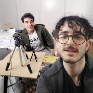 Villa y Pablo en la reunión informativa online