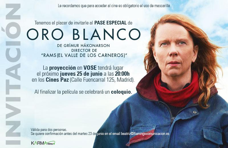 Invitacion película ORO BLANCO